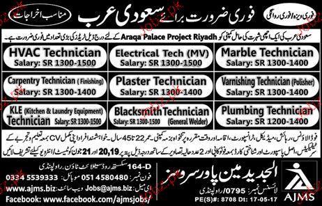 Electrical Technicians, HVAC Technicians Job Opportunity