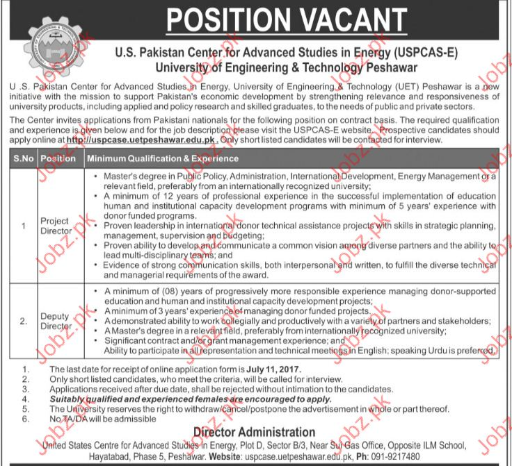 Project Director Jobs in University Of Science & Technology