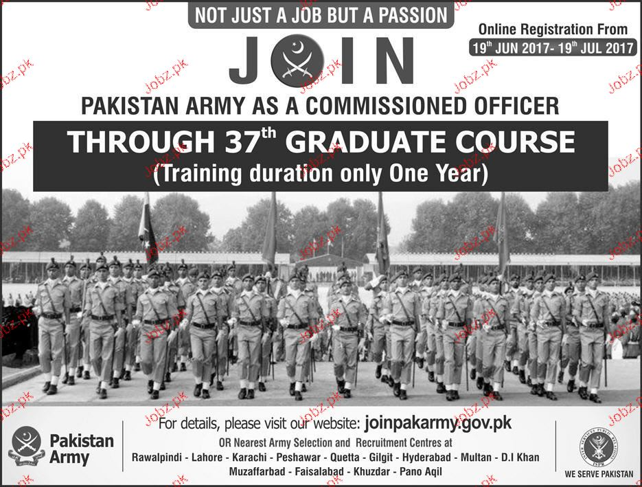 Join Pakistan Army  As Commissioned Officer Through Graduate