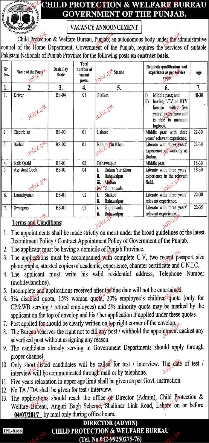 Child Protection & Welfare Bureau Government of the Punjab