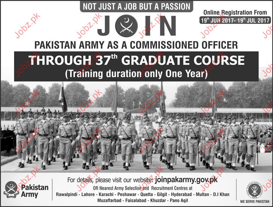 Join Pakistan Army as Commissioner Officer Jobs