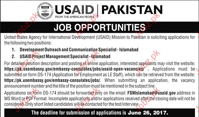 Communication Specialist Jobs In USAID