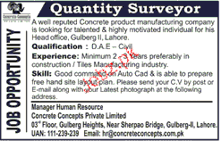 Quantity Surveyors Job Opportunity