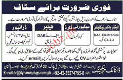 Technicians, Security Guards, Helpers Job Opportunity