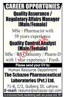 Quality Assurance / Regulatory Affair  Managers Wanted