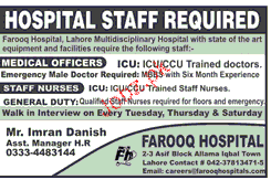 Medical Officers and Staff Nurses Job opportunity
