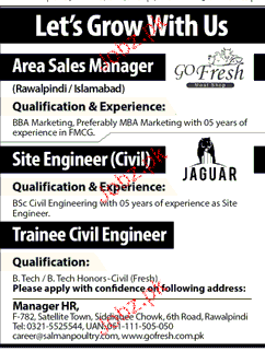 Area Sales Managers, Sales Engineer Civil Job Opportunity