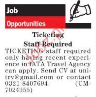 Ticketing staff required