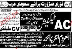 AC Technicians Job Opportunity