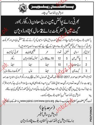 Pakistan Railways PR Recruitment