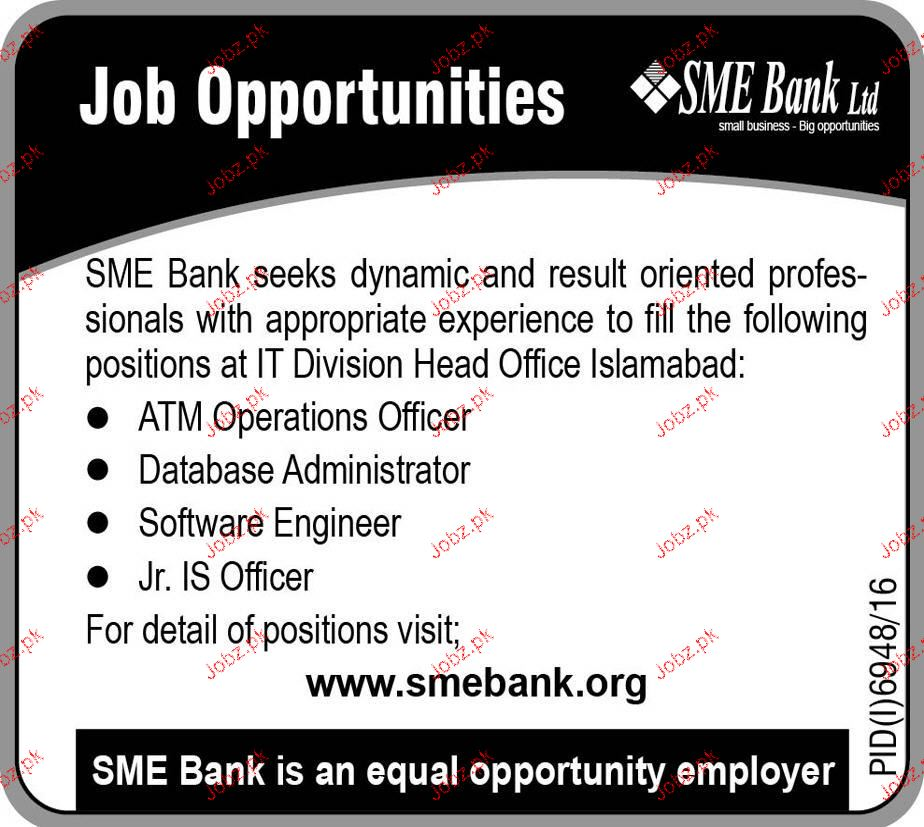 ATM Operations Officers, Database Administrators Wanted