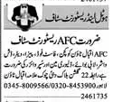 AFC Hotel Lahore Jobs