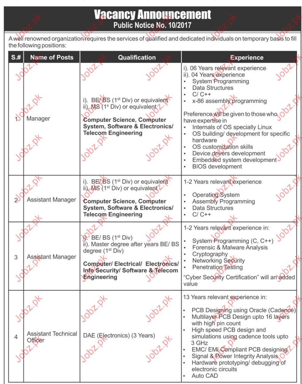 Manager Jobs 2017 In General Hrm Office 2018 Pakistan Circuit Kamran Ahmed Uk