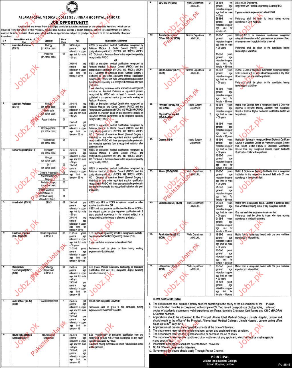 Jinnah Hospital JH Career Opportunities