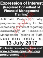 Consultant Financial Management Jobs In Actionaid Pakistan
