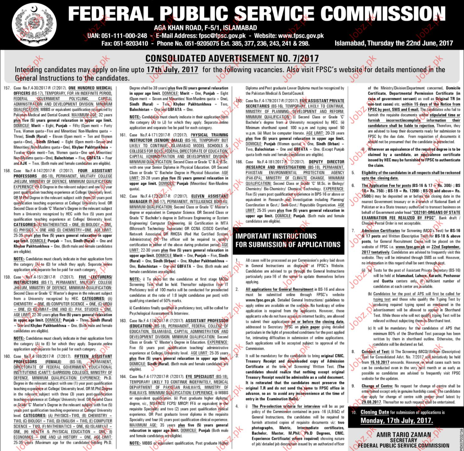 Medical officer Jobs Federal Publication Service Commission