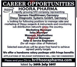 Marketing Managers, Sales Managers Job Opportunity