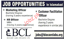 Marketing Officers, HR Officers Job Opportunity
