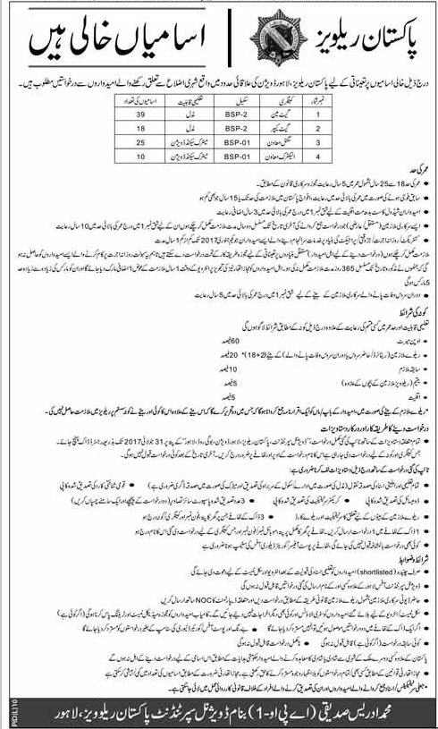 Pakistan Railways Job Opportunities