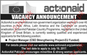 Project Manager Jobs In Action Aid company