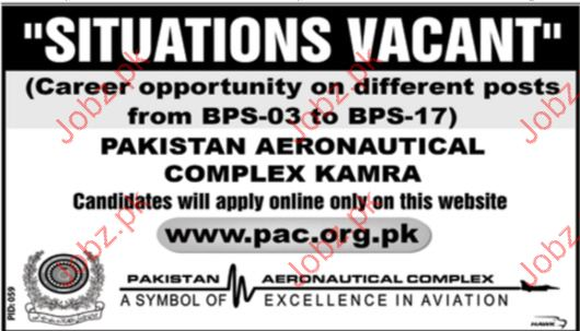 Clerical Jobs in Pakistan Aeronautical Complex