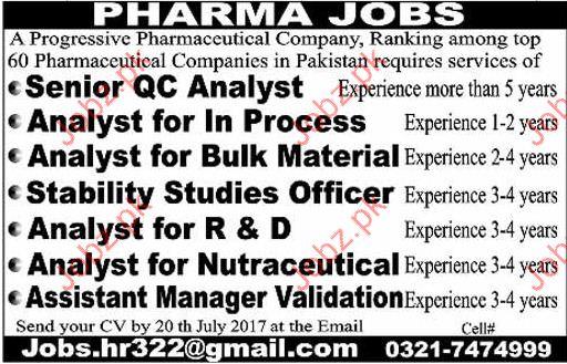 Senior Quality Control Analyst Jobs 2017 2018 Jobs Pakistan