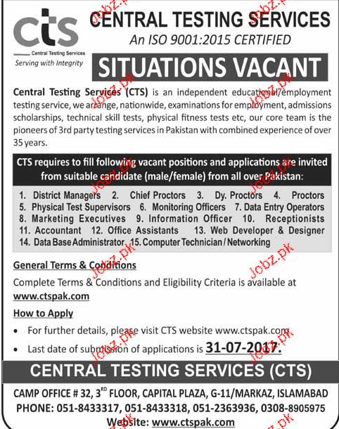 Central Teaching Services  CTS Jobs Open