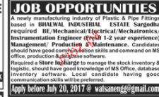 Electrical Engineers, Maintenance Engineers Job Opportunity