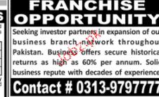 Franchises Job Opportunity