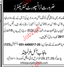 Transport Contractors Job Opportunity