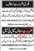 Male & Female Staff Jobs In Nawa i Waqt  Classified