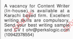 Content Writer Jobs 2017