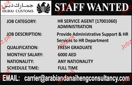 HR Service Agent Administration Job Opportunity