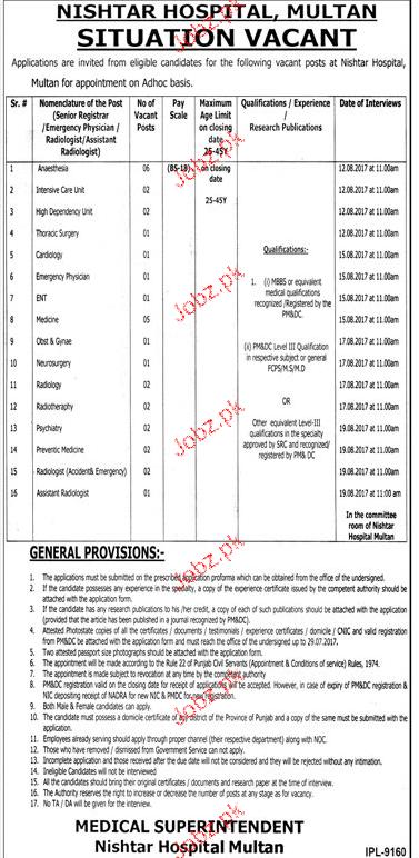 Nishta Hospital Multan NHM Jobs