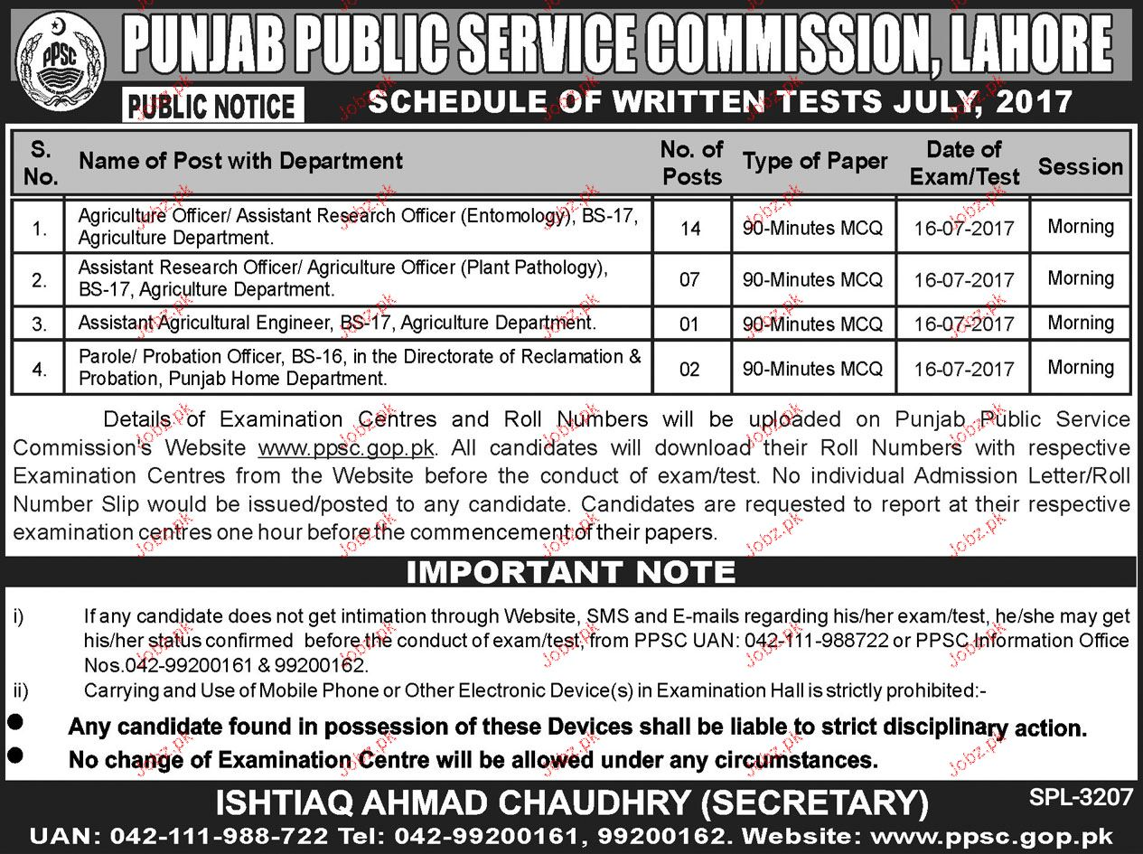 Agriculture Department Research Jobs Through PPSC