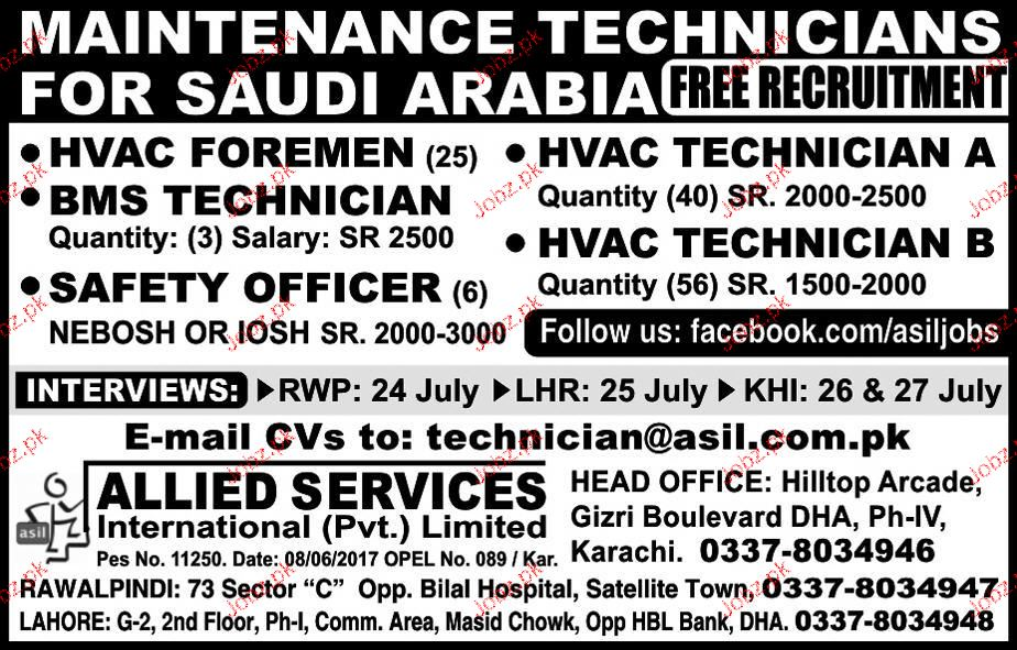 HVAC Foreman, HVAC Technicians Job Opportunity
