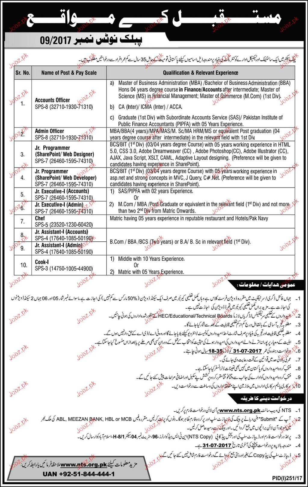 Public Sector Organization Jobs Through NTS