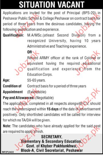 Principal Jobs in Elementary & Secondary Education