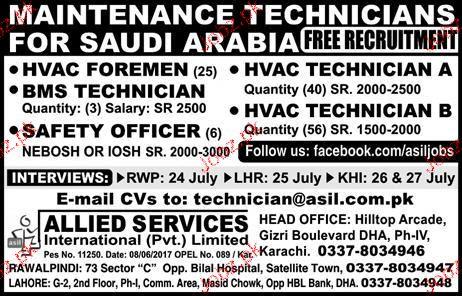 HVAC Foreman, HVAC Technicians Job Opportunity