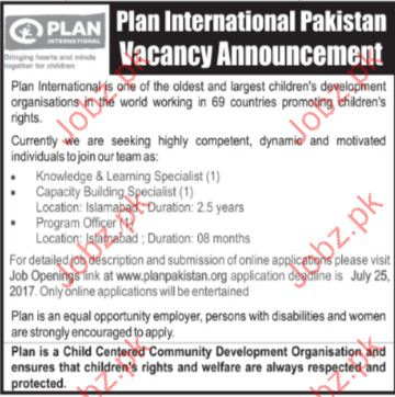 Plan International Pakistan Jobs