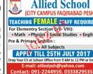 Female Science Teachers Job Opportunity