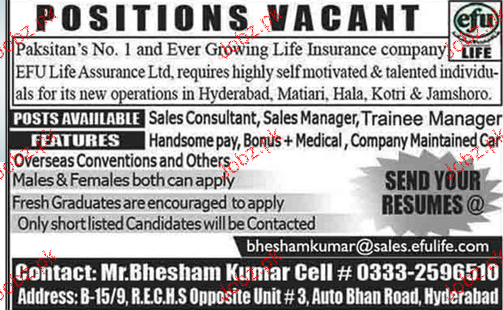 Sales Consultants, Sales Managers Job Opportunity