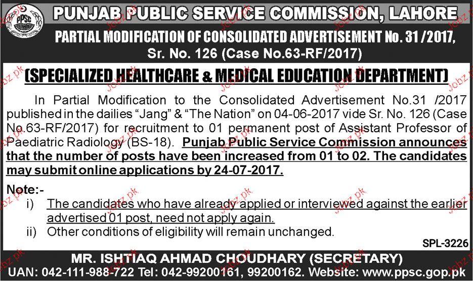 Punjab Public Service Commission PPSC Jobs 2017