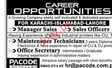 Manager Sales, Sales Officers Job Opportunity