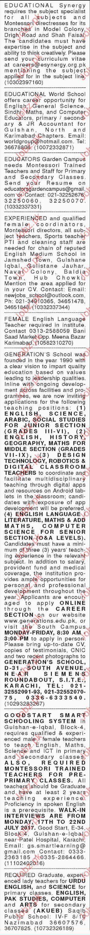 Montessori Directresses Required