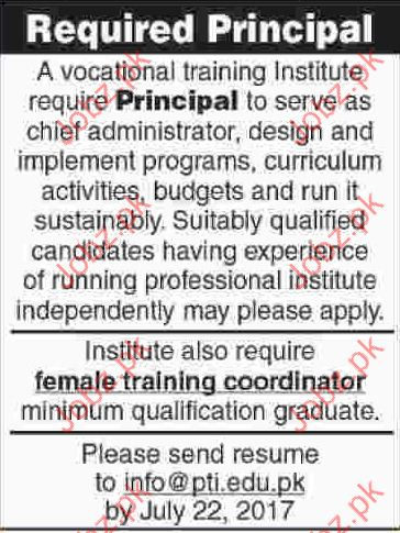 Principal Required