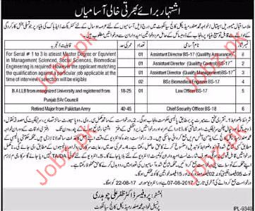 Medical Jobs In Allama Iqbal Memorial Hospital