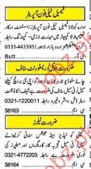 Female telephone operator Required
