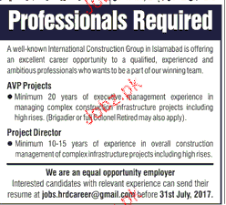 Professionals Job Opportunity