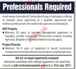 Professionals Job Opportunity